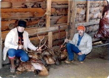 Laveta, CO 1982 hunting elk. Johnny and D M Parks.