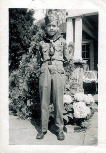 Johnny as a boy scout in 1950
