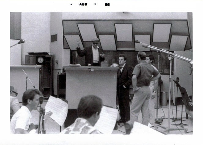 """Recording in Hollywood for Warner Bro's. This was during the """"Day for Decision"""" album session."""