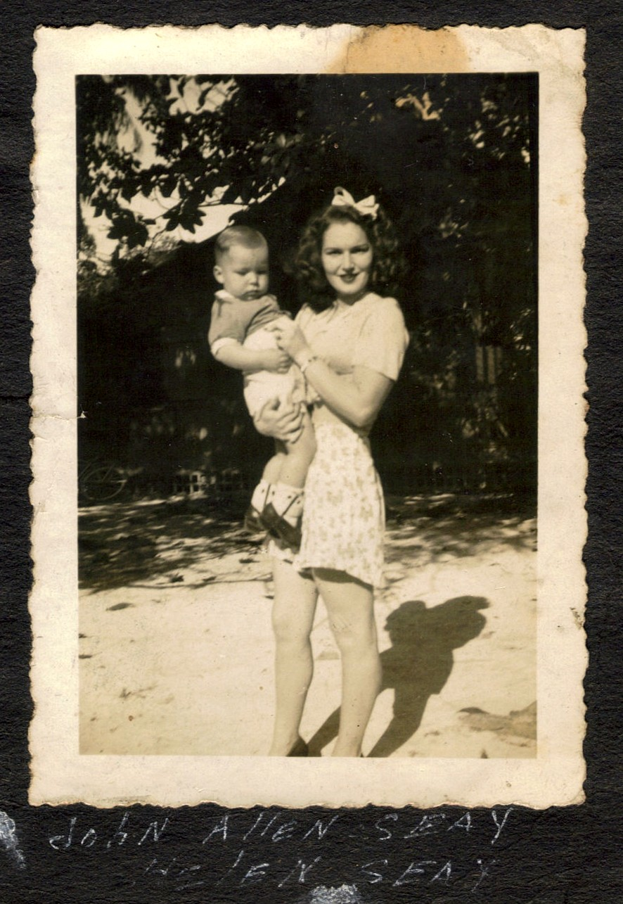 My Dad with his mother, Helen, in 1942